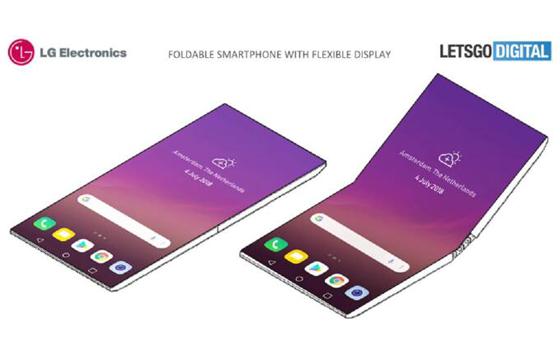 LG可折叠智能手机